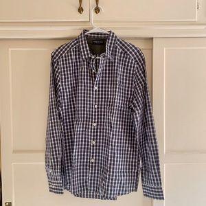Kenneth Cole Men's Blue Plaid Dress Shirt - size M